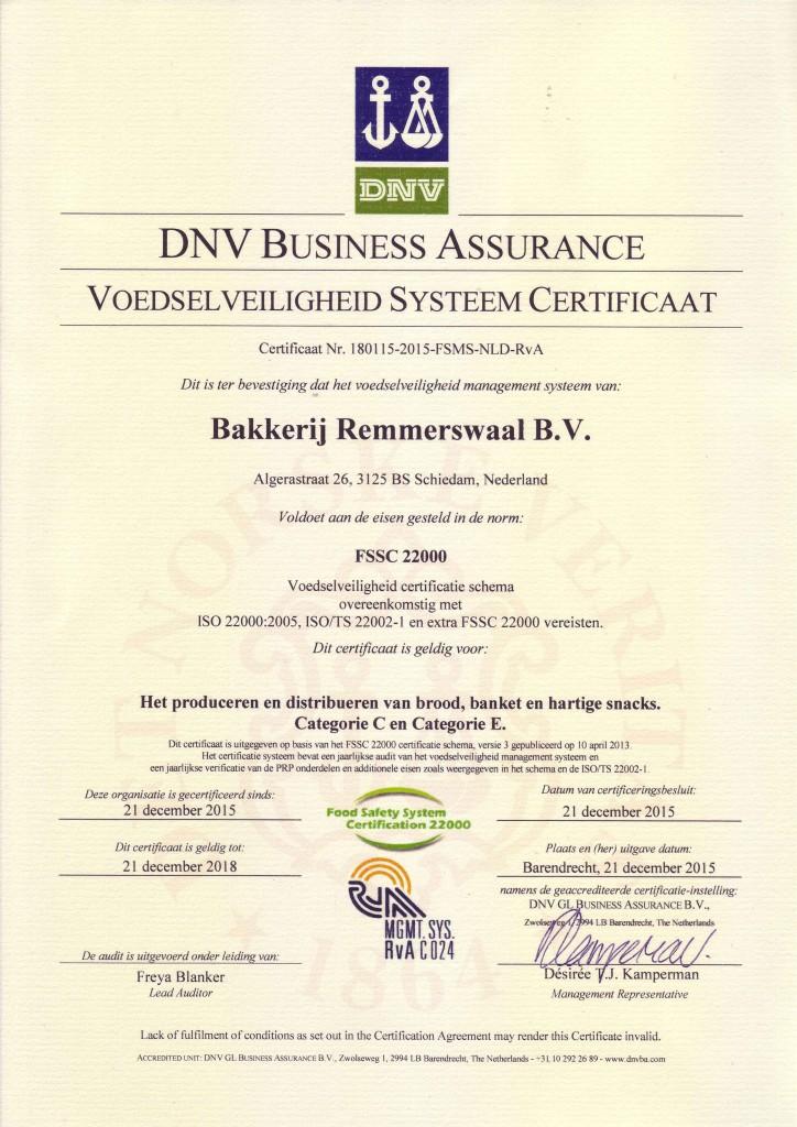 FSSC 22000 certificaat
